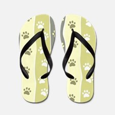 Cute Paw Prints Flip Flops