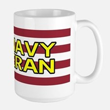 U.S. Navy: Veteran (American Flag) Large Mug