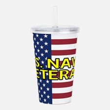 U.S. Navy: Veteran (Am Acrylic Double-wall Tumbler