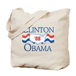 Clinton / Obama 2008 Tote Bag
