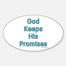 "Blue ""God Keeps"" Oval Decal"