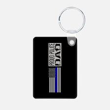 Police: Proud Dad (Black F Keychains
