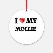 I love my Mollie Round Ornament