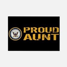 U.S. Navy: Proud Aunt (Black) Rectangle Magnet