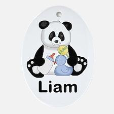 Liam's Little Panda Oval Ornament