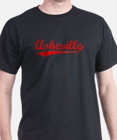 Vintage Asheville (Red) T-Shirt