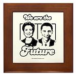 Clinton / Obama 2008 Framed Tile