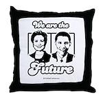 Clinton / Obama 2008 Throw Pillow