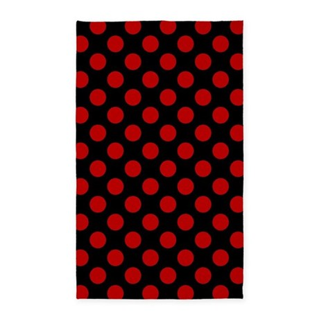 red and black polka dots area rug by admin cp125434866
