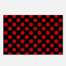Red and Black Polka Dots Postcards (Package of 8)
