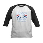 Clinton and Obama for America Kids Baseball Jersey