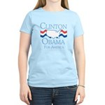 Clinton and Obama for America Women's Light T-Shir