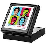 Clinton and Obama art Keepsake Box