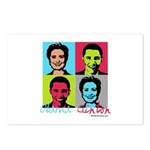 Clinton and Obama art Postcards (Package of 8)