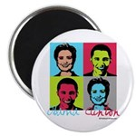 Clinton and Obama art Magnet