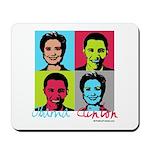 Clinton and Obama art Mousepad