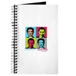 Clinton and Obama art Journal