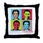 Clinton and Obama art Throw Pillow