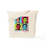 Clinton and Obama art Tote Bag