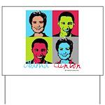 Clinton and Obama art Yard Sign