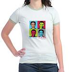 Clinton and Obama art Jr. Ringer T-Shirt