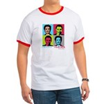 Clinton and Obama art Ringer T