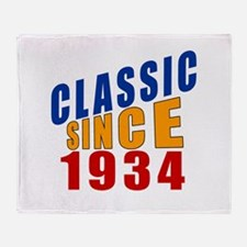 Classic Since 1934 Throw Blanket