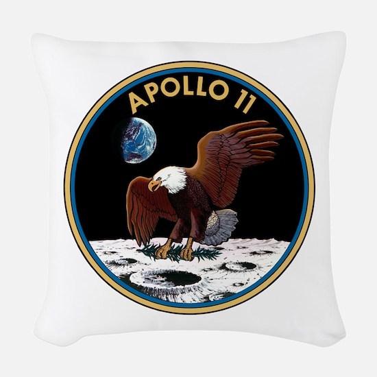 Apollo 11 Insignia Woven Throw Pillow