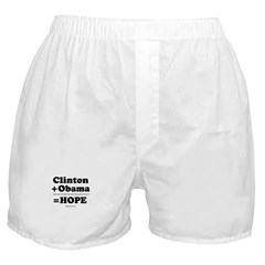 Clinton + Obama = Hope Boxer Shorts