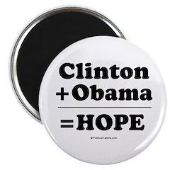 Clinton + Obama = Hope Magnet