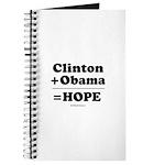 Clinton + Obama = Hope Journal
