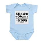 Clinton + Obama = Hope Infant Bodysuit