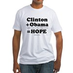 Clinton + Obama = Hope Fitted T-Shirt