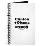 Clinton + Obama = 2008 Journal