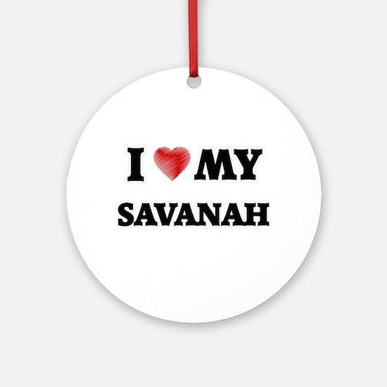 I love my Savanah Round Ornament