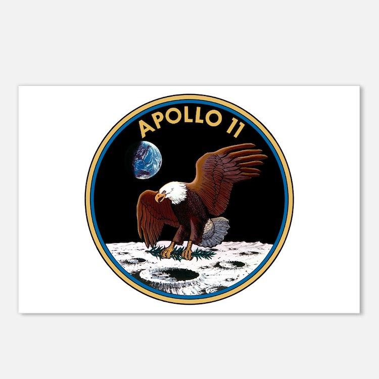 NASA Apollo 11 Insignia Postcards (Package of 8)