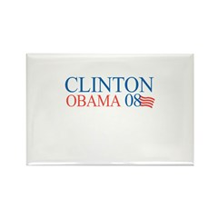 Clinton / Obama 2008 Rectangle Magnet