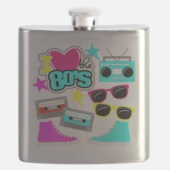 Cute 80s pop culture Flask