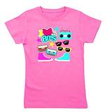 I love the 80s Girl's Dark T-Shirt