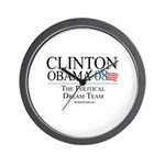 Clinton/Obama: The Dream Team Wall Clock