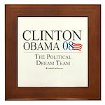 Clinton/Obama: The Dream Team Framed Tile
