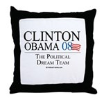 Clinton/Obama: The Dream Team Throw Pillow