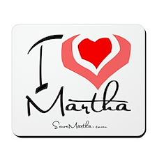 I Heart Martha Mousepad
