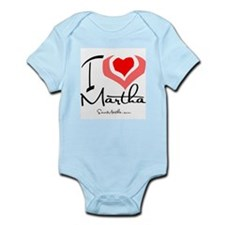 I Heart Martha Infant Creeper
