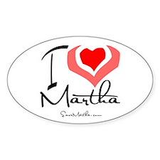 I Heart Martha Oval Decal