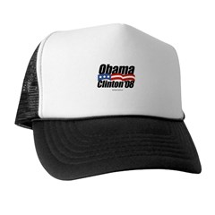 Obama Clinton 08 Trucker Hat