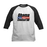 Obama Clinton 08 Kids Baseball Jersey