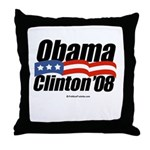 Obama Clinton 08 Throw Pillow