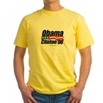 Obama Clinton 08 Yellow T-Shirt