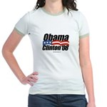 Obama Clinton 08 Jr. Ringer T-Shirt